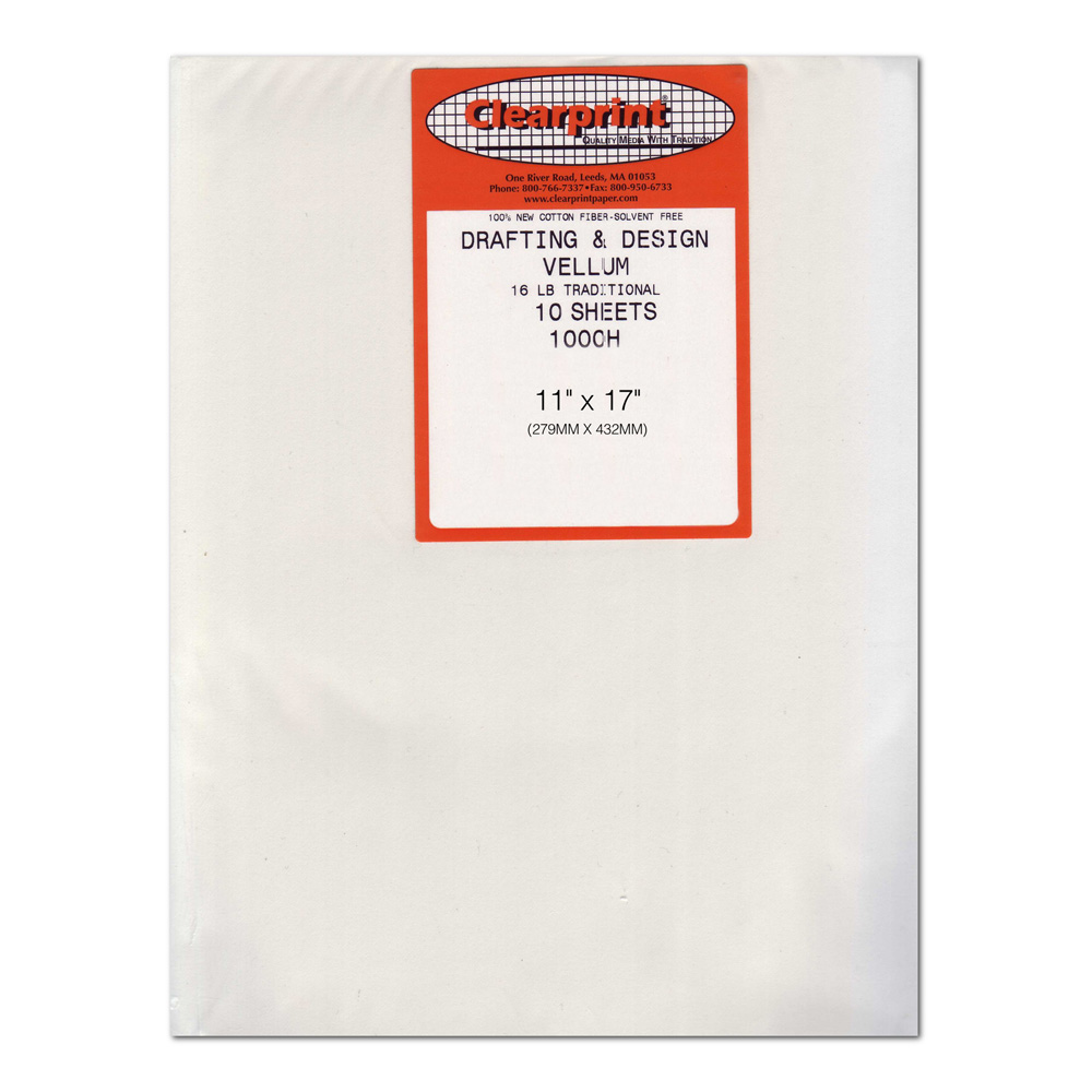 Clearprint Vellum 1000H 11X17 Pk/10 Sheets
