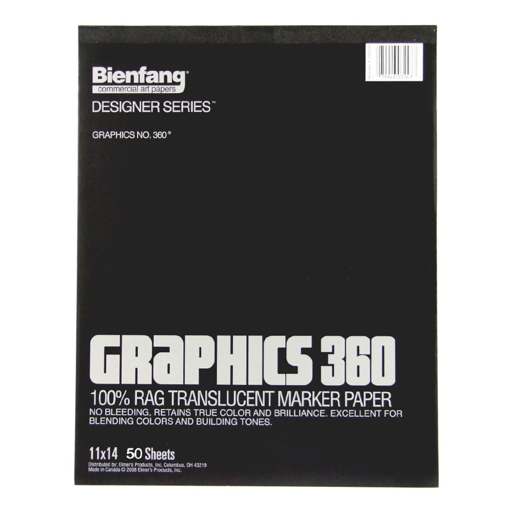 Bienfang 360 Graphics Pad 50 Sheets 11X14