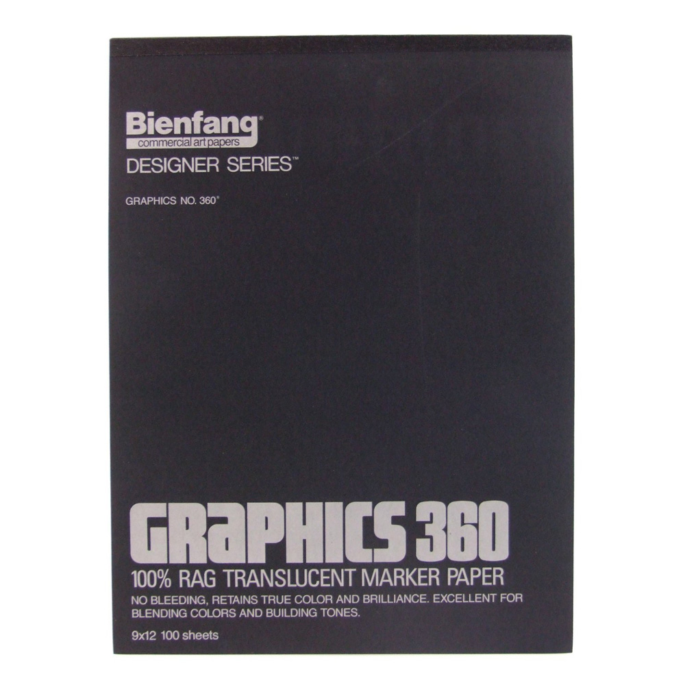 Bienfang 360 Graphics Pad 100 Sheets 9X12