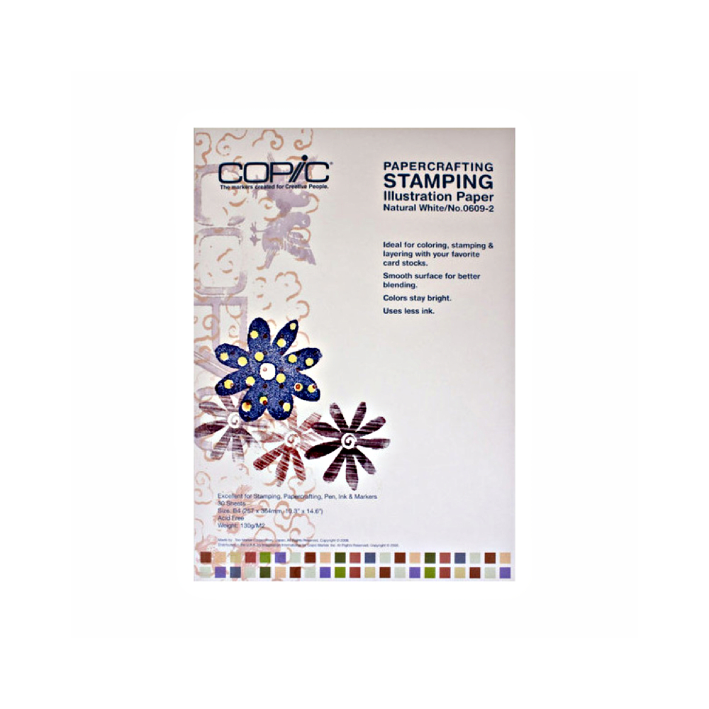 Copic Stamping Illustration Paper B4