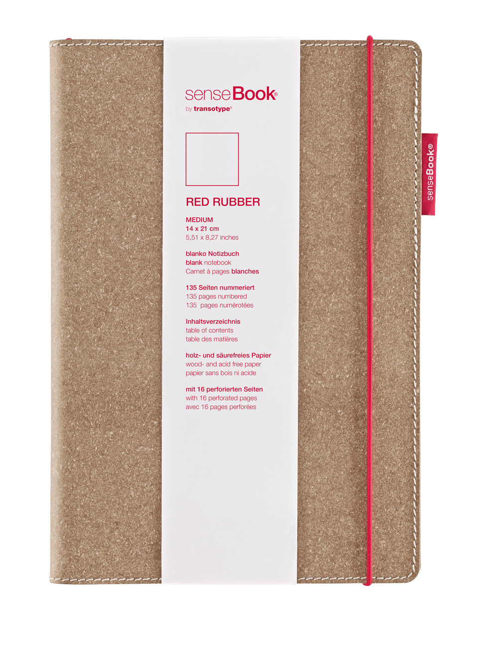 Sensebook Red Rubber 6X8 Blank
