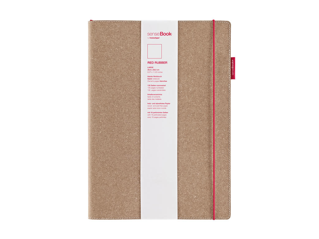Sensebook Red Rubber 8X11 Blank