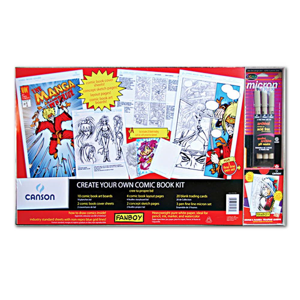 Fanboy Create Your Own Comic Book Kit W/Cards