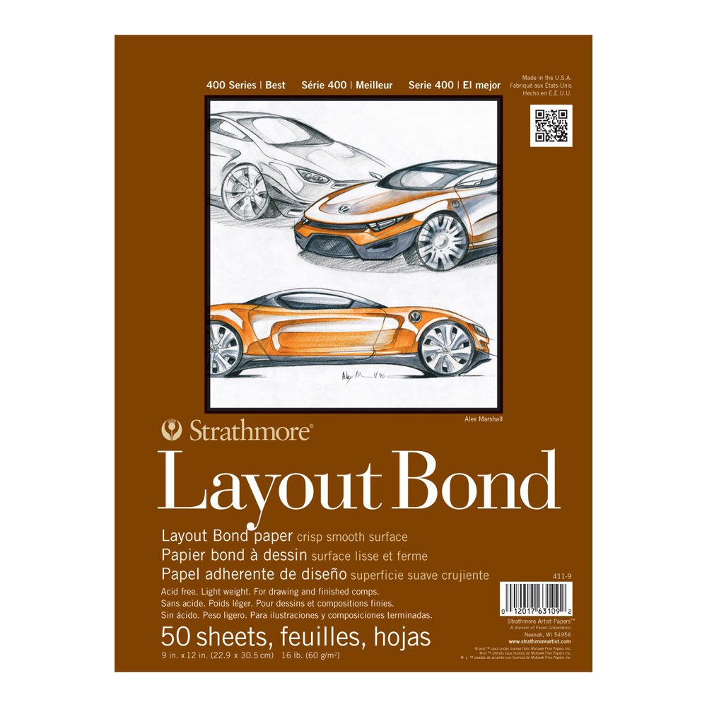 Strathmore 400 Layout Bond 9X12