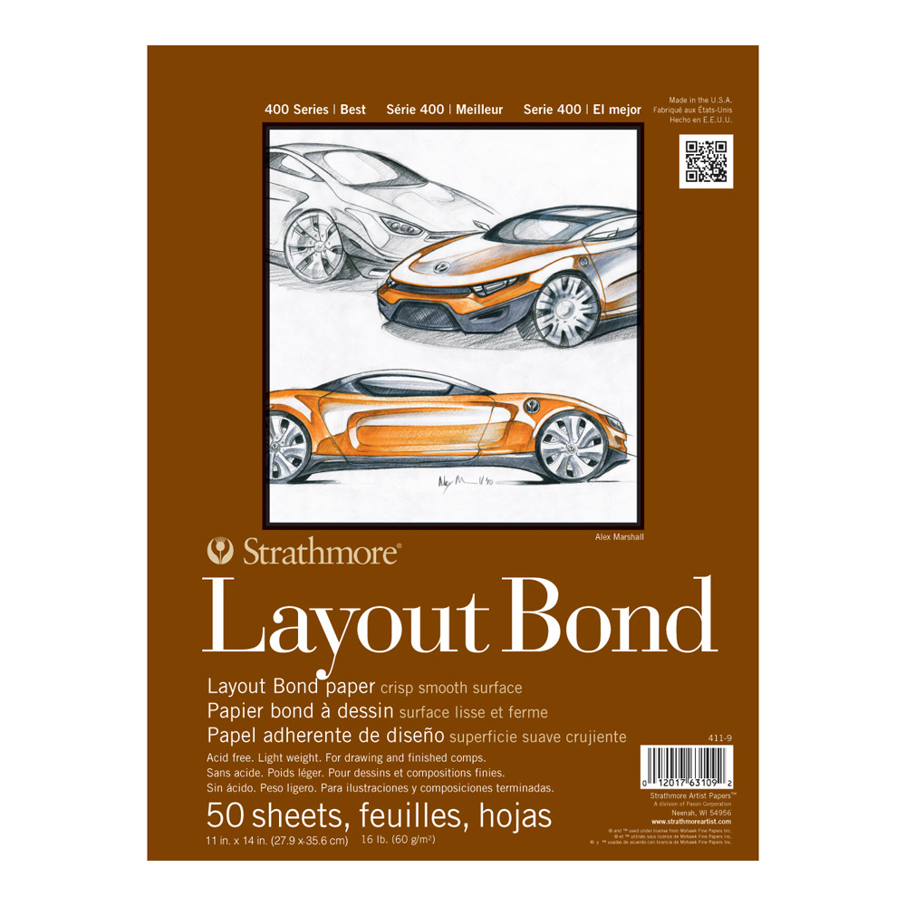 Strathmore 400 Layout Bond 11X14