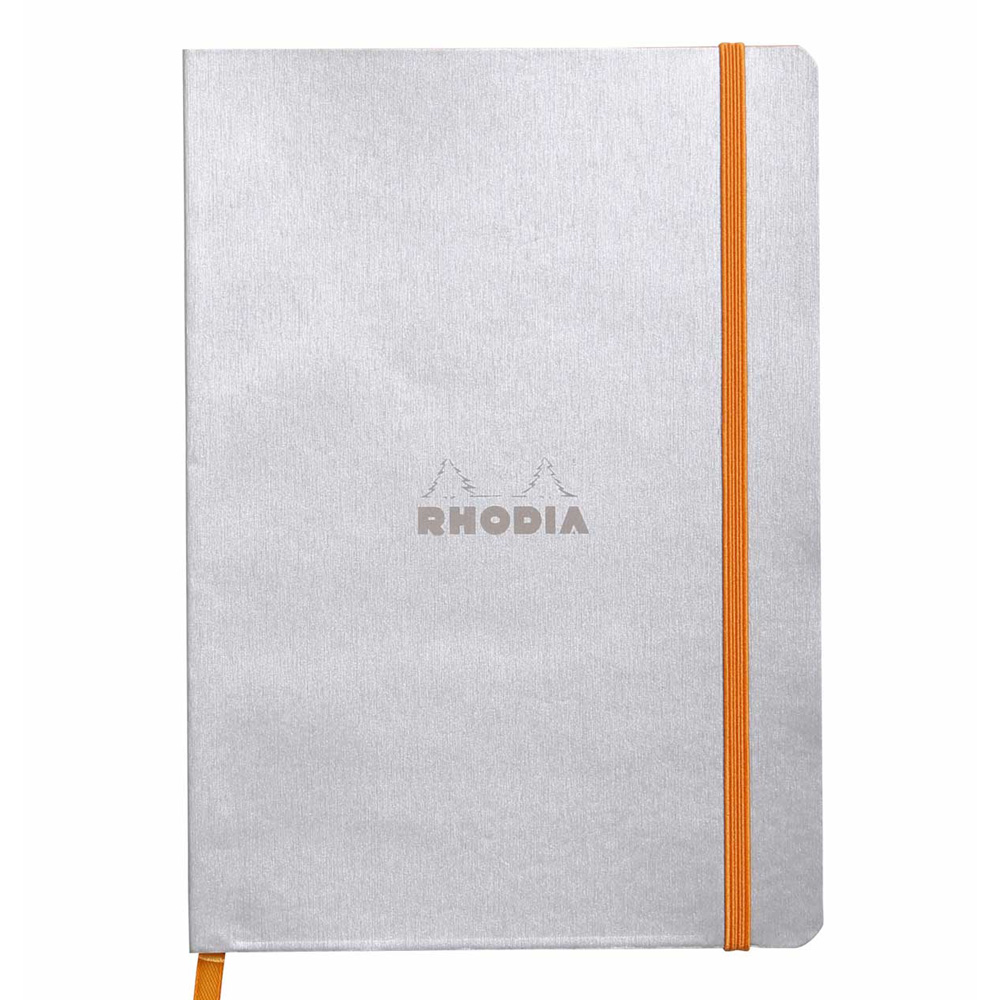 Rhodiarama Notebook Silver 6X8.25 Lined
