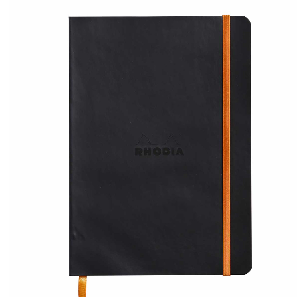 Rhodiarama Notebook Black 6X8.25 Lined
