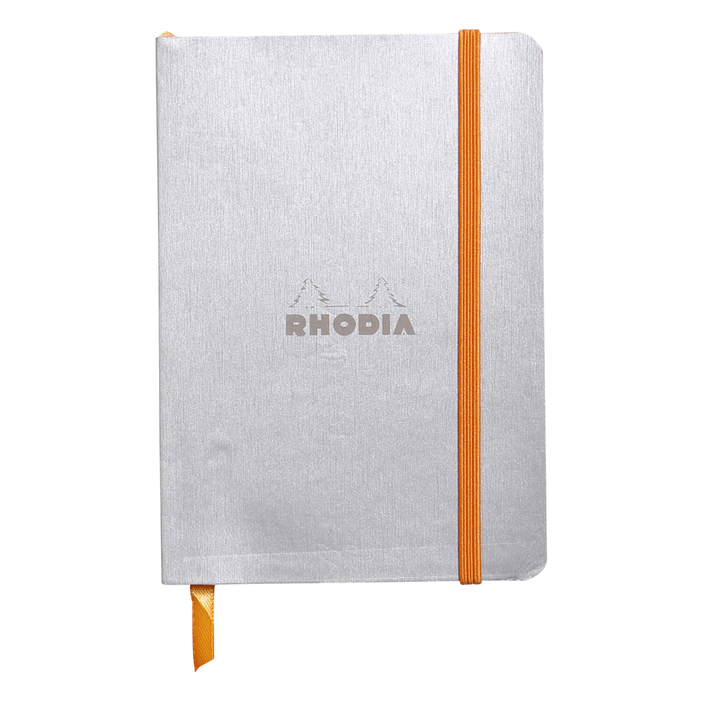 Rhodiarama Lined 4X6 inch Silver Notebook