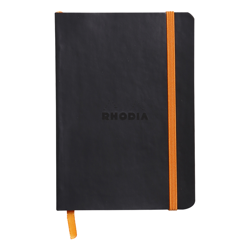 Rhodiarama Lined 4X6 inch Black Notebook
