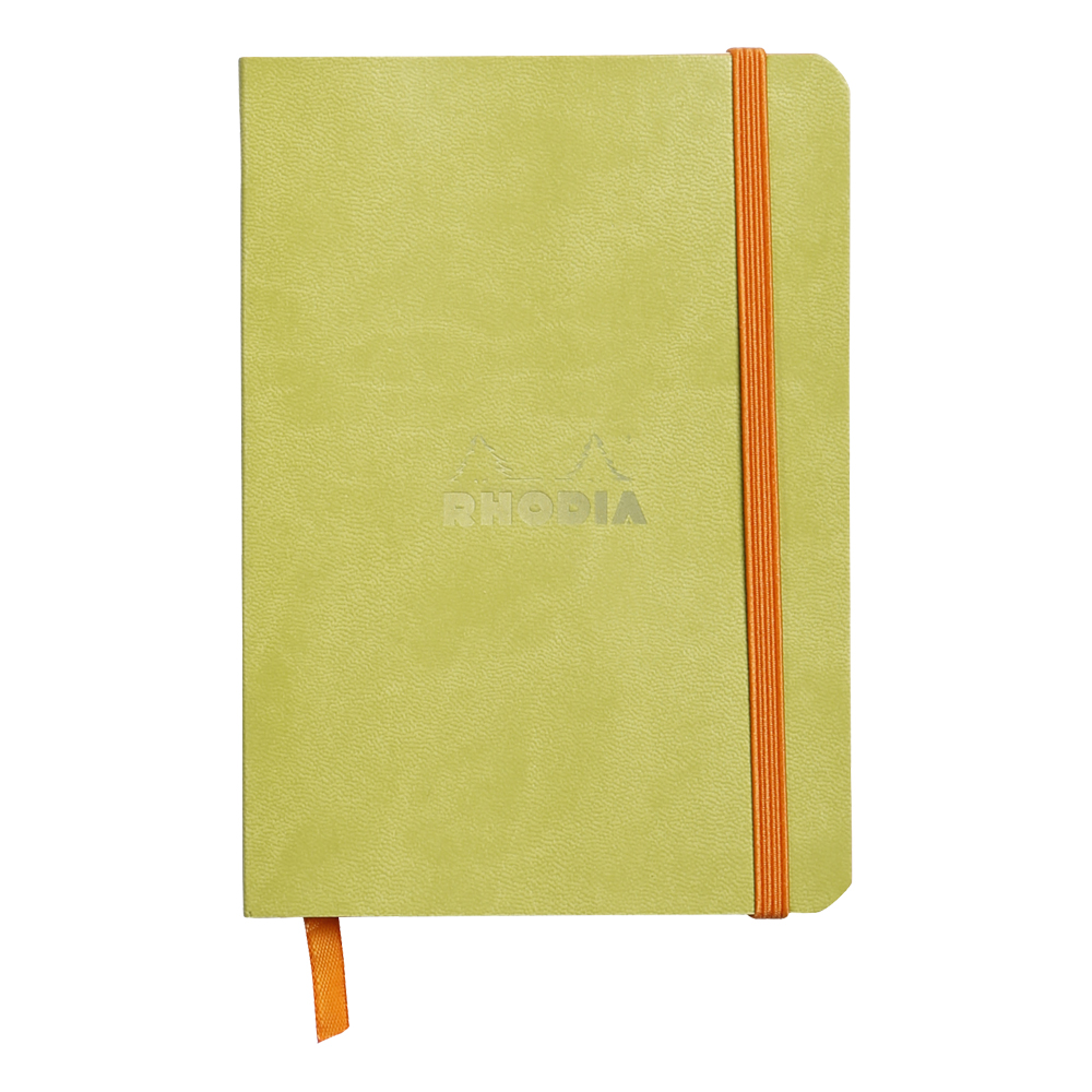 Rhodiarama Lined 4X6 inch Anise Notebook