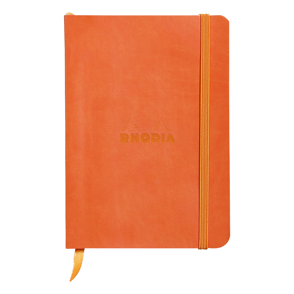 Rhodiarama Lined 4X6 inch Tangerine Notebook