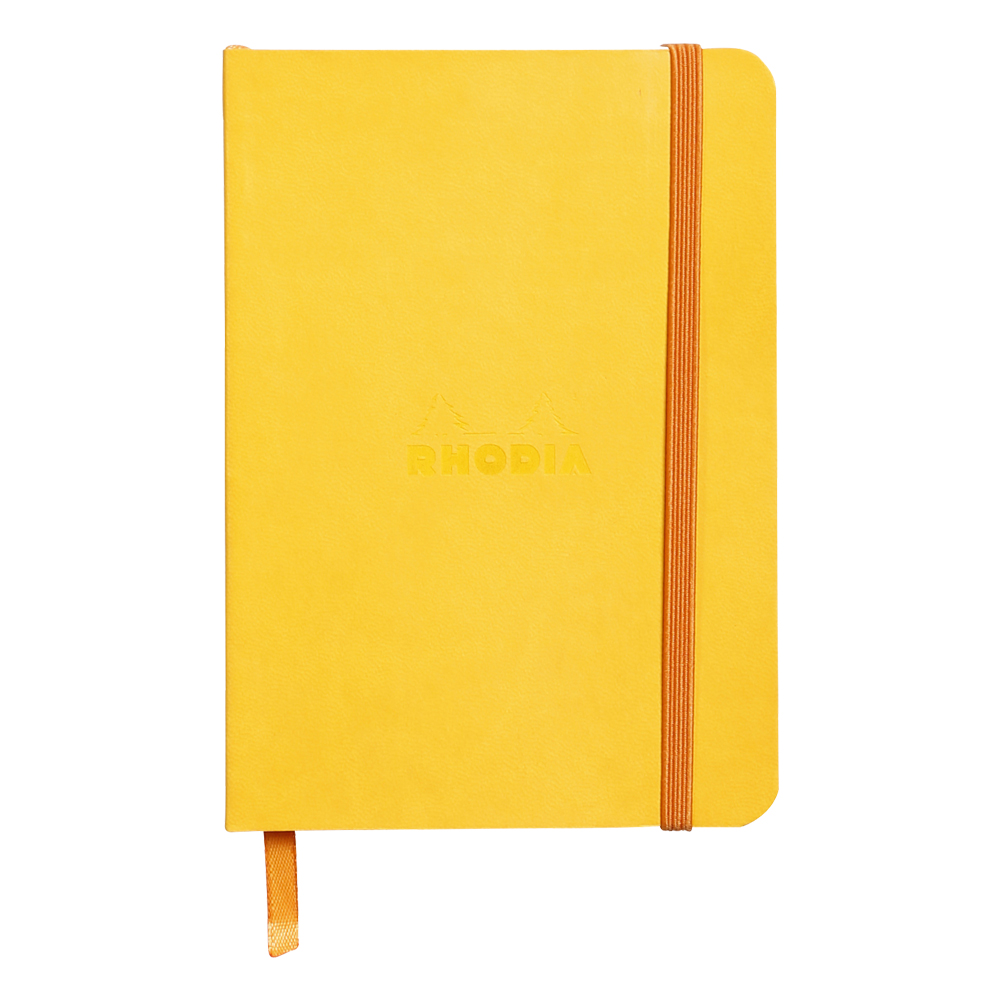 Rhodiarama Lined 4X6 inch Yellow Notebook