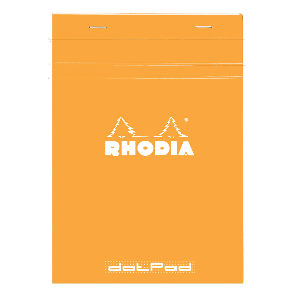 Rhodia Classic Orange Dot Pad 6X8.25