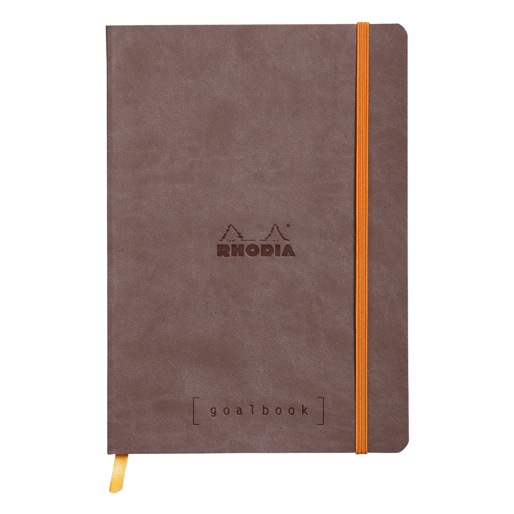 Rhodia Goal Book Chocolate 5.75X8.25 Dot Grid