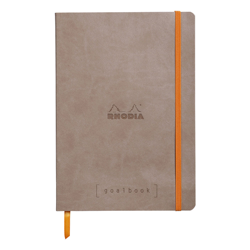 Rhodia Goal Book Taupe 5.75X8.25 Dot Grid