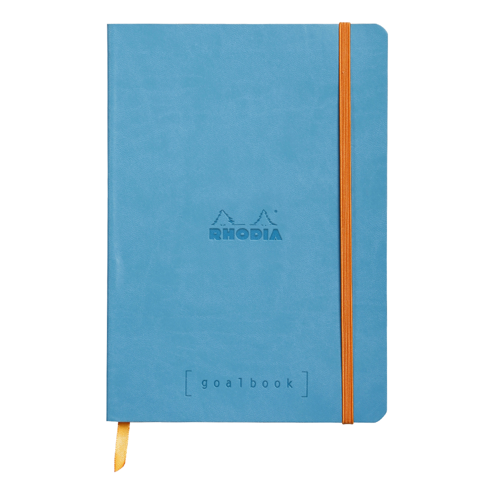 Rhodia Goal Book Turquoise 5.75X8.25 Dot Grid