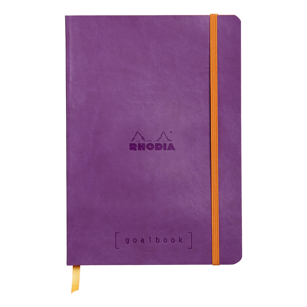 Rhodia Goal Book Purple 5.75X8.25 Dot Grid