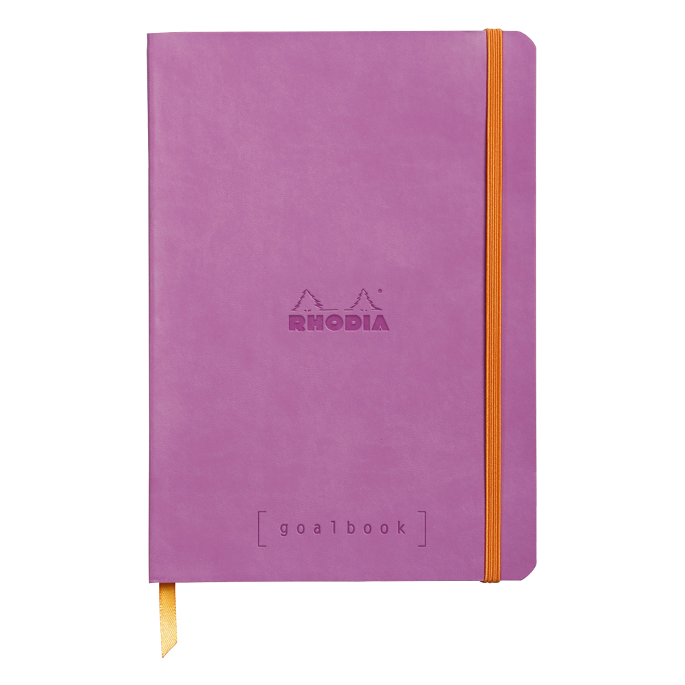 Rhodia Goal Book Lilac 5.75X8.25 Dot Grid