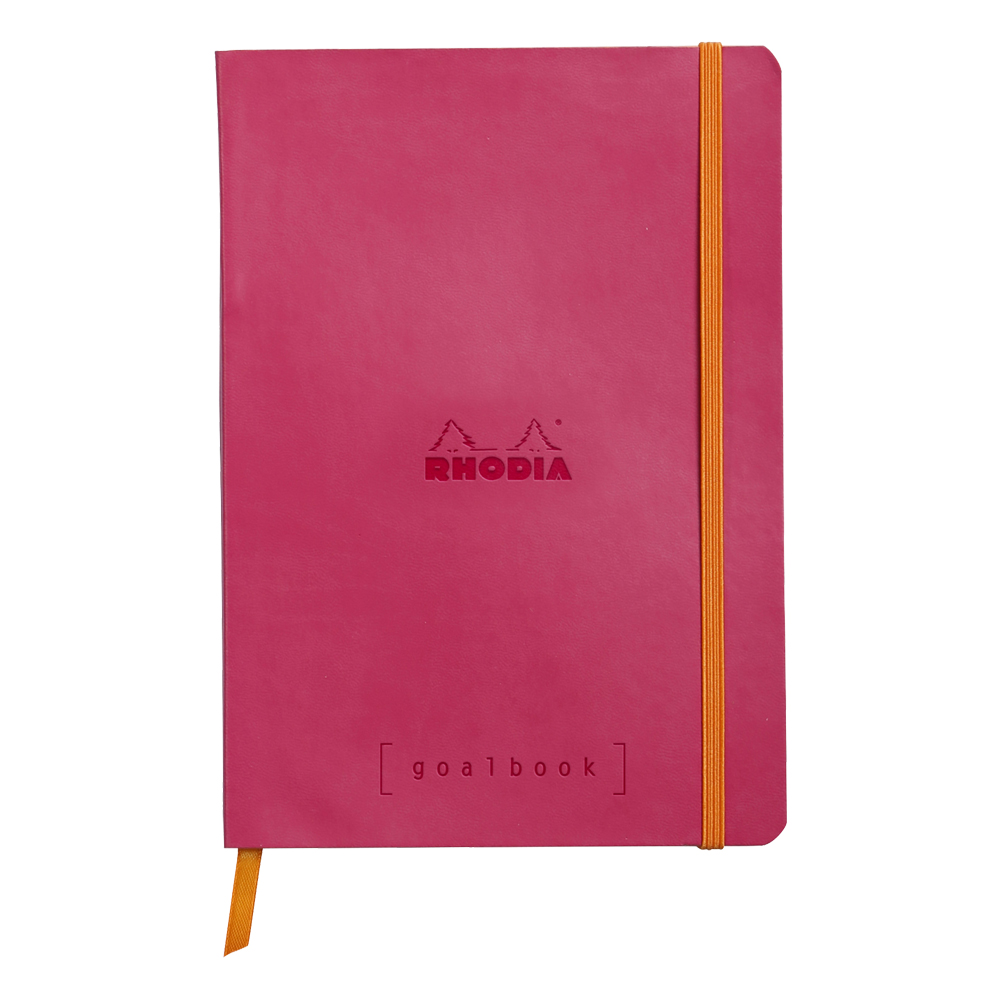 Rhodia Goal Book Raspberry 5.75X8.25 Dot Grid