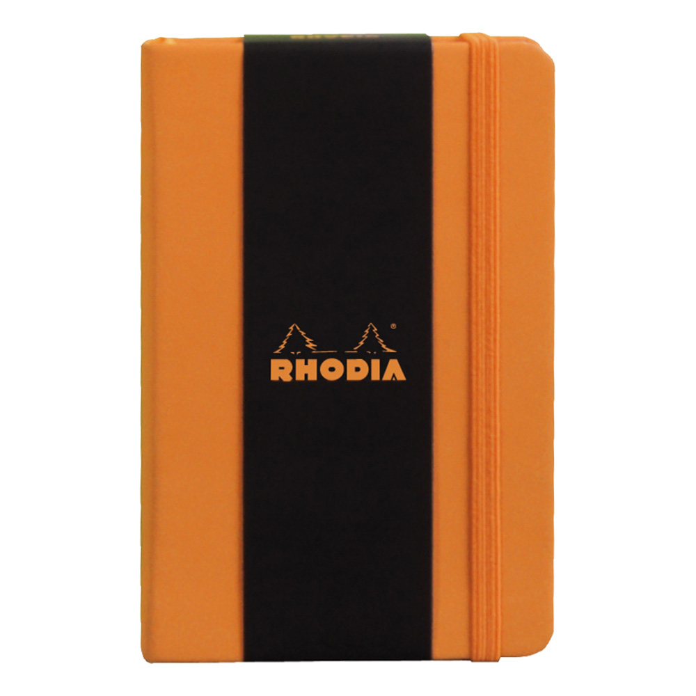Rhodia Orange Webnotebook 3.5X5.5 Blank