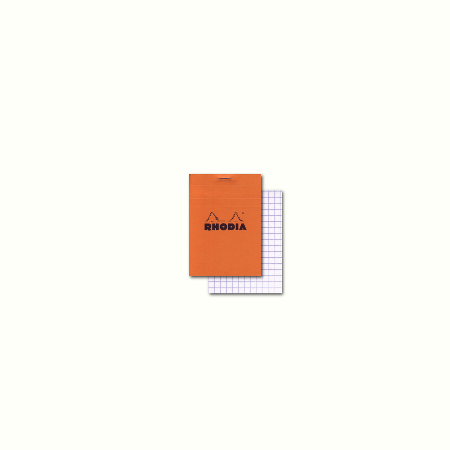 Rhodia Classic Orange Notepad 3X4 Grid