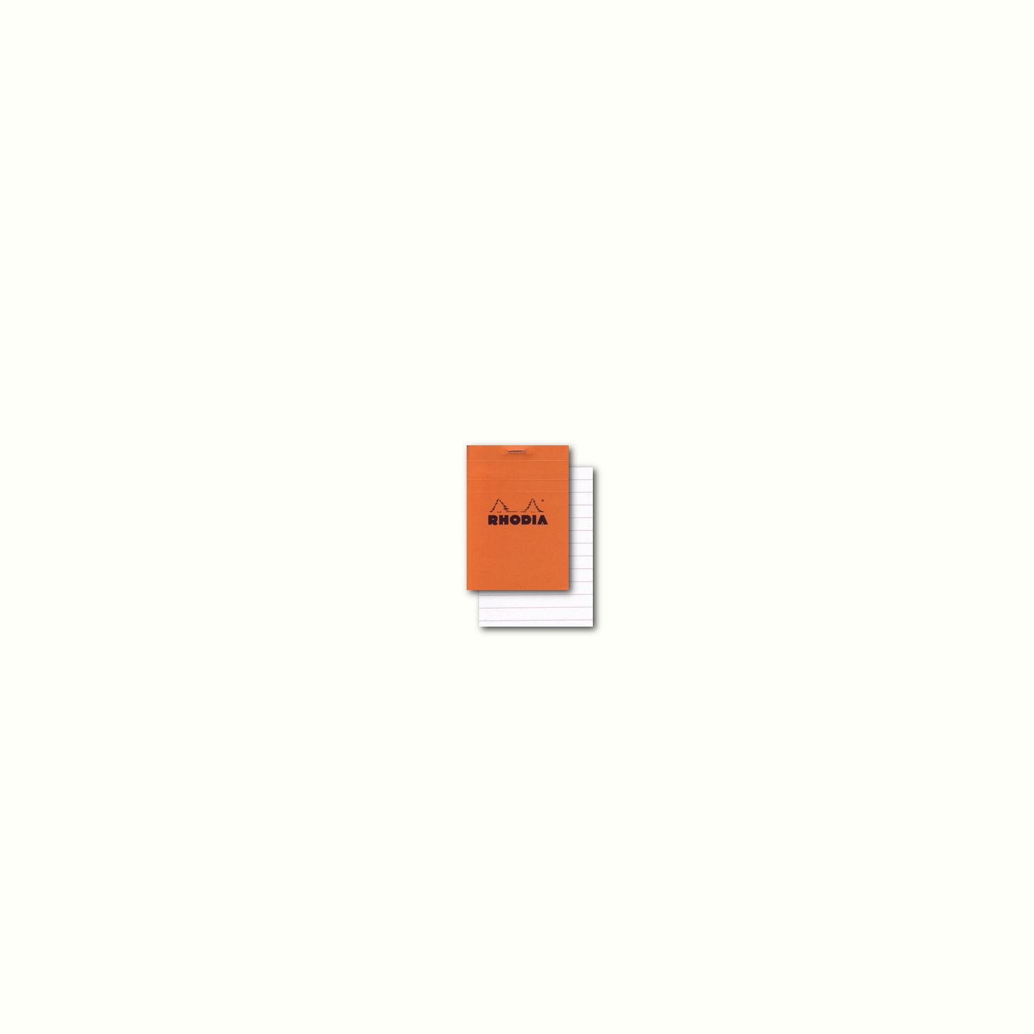 Rhodia Classic Orange Notepad 2X3 Lined