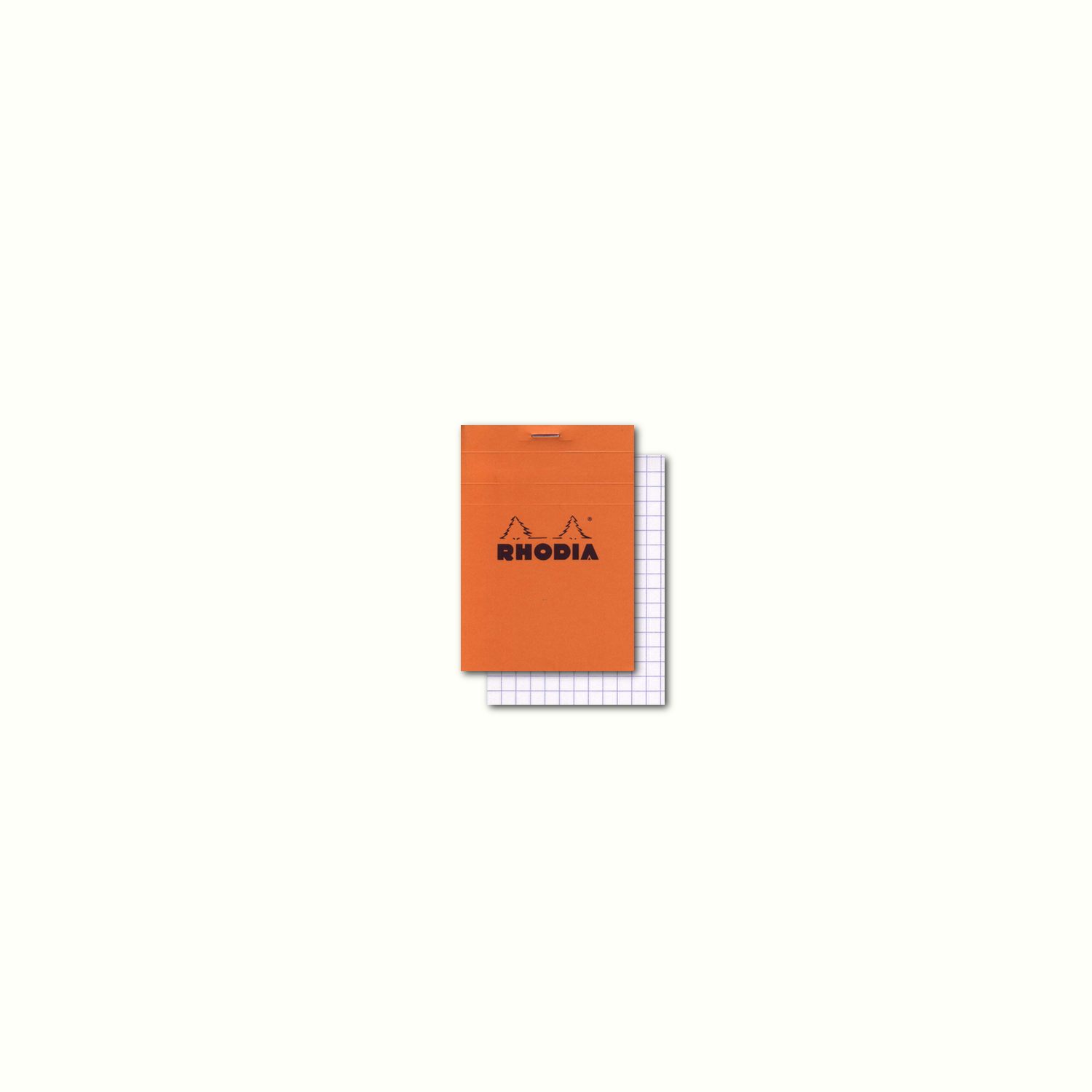 Rhodia Classic Orange Notepad 3.3 X 4.75 Grid