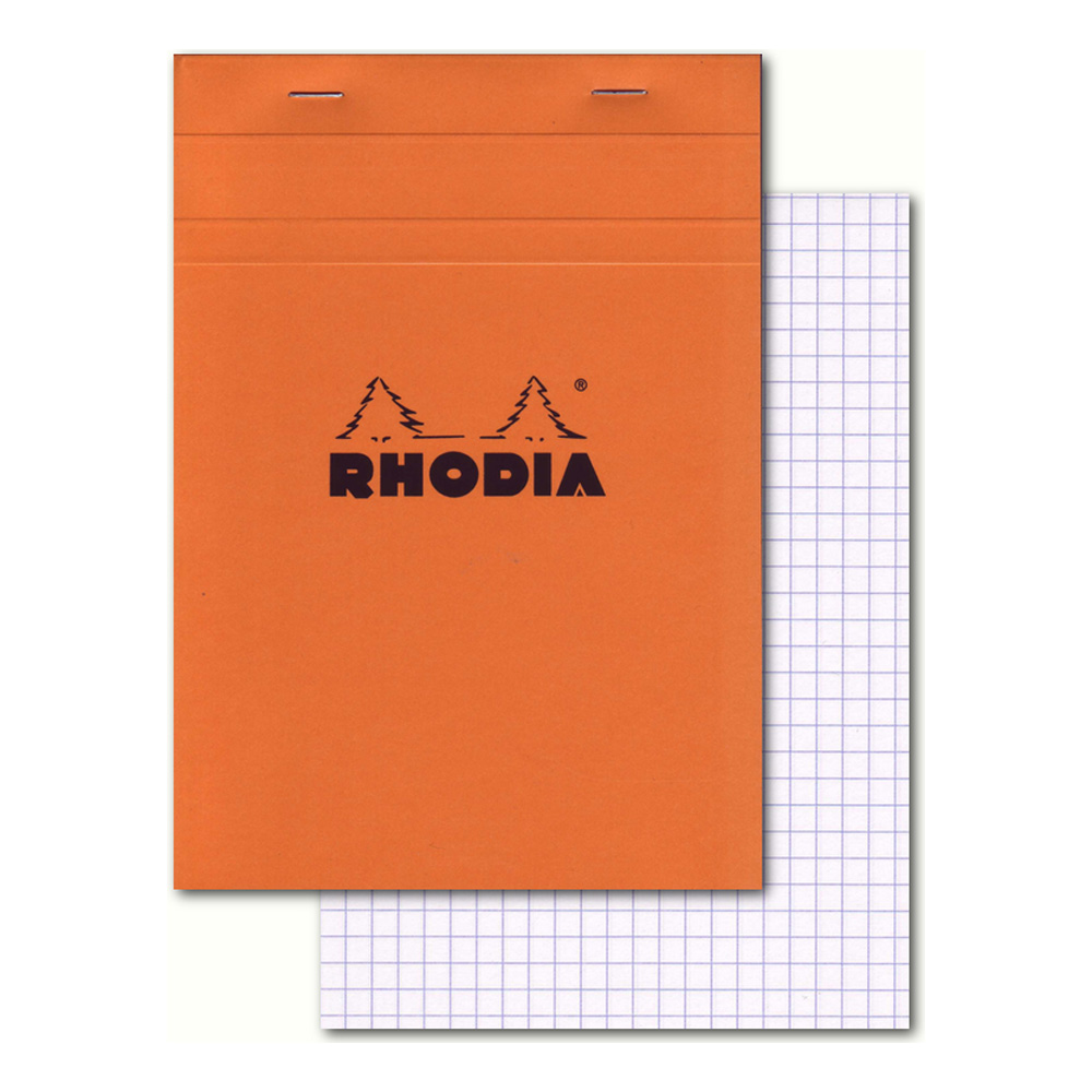 Rhodia Classic Orange Notepad 6X8.25 Grid