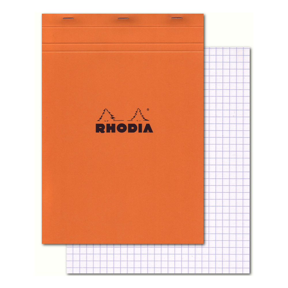Rhodia Classic Orange Notepad 8.25X11.75 Grid