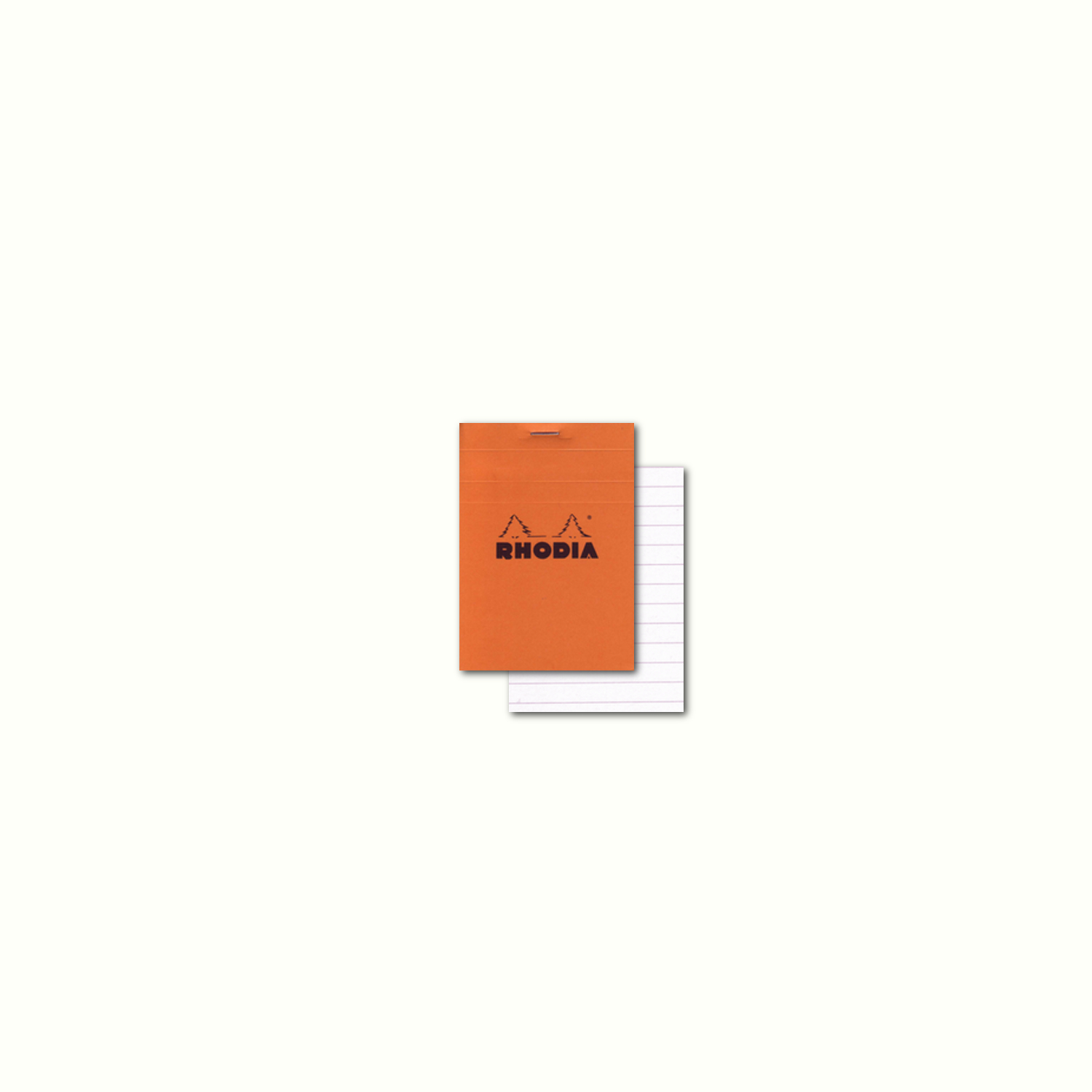 Rhodia Classic Orange Notepad 3X4 Lined