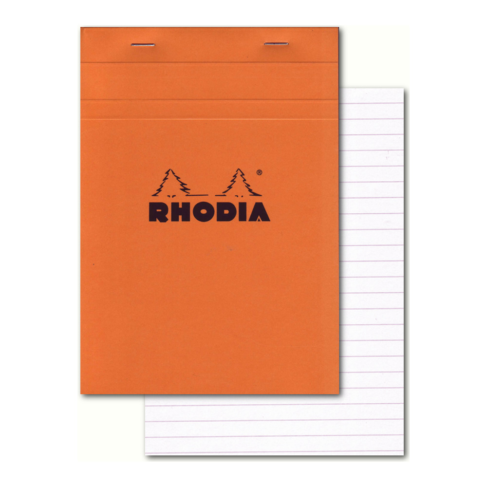 Rhodia Classic Orange Notepad 6X8.25 Lined