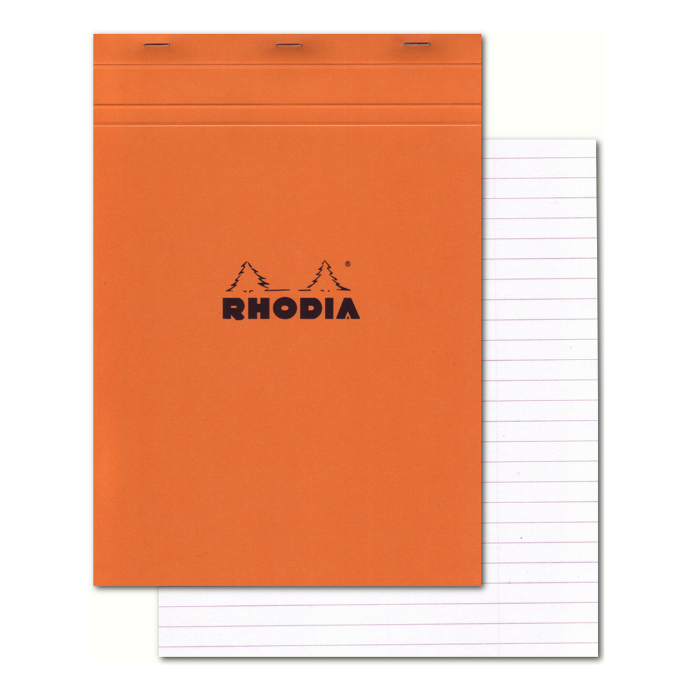 Rhodia Classic Orange Notepad 8.5X11.75 Lined