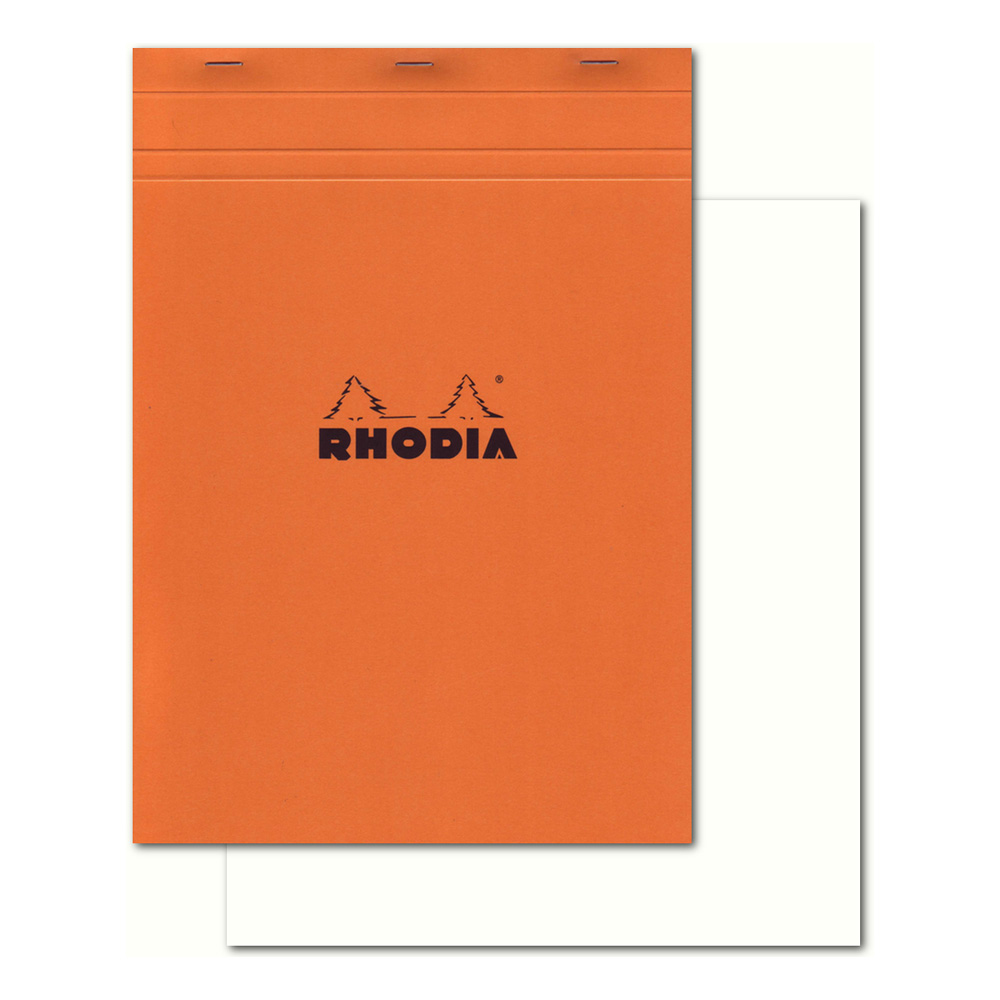 Rhodia Classic Orange Notepad 8.25X11.27 Blnk