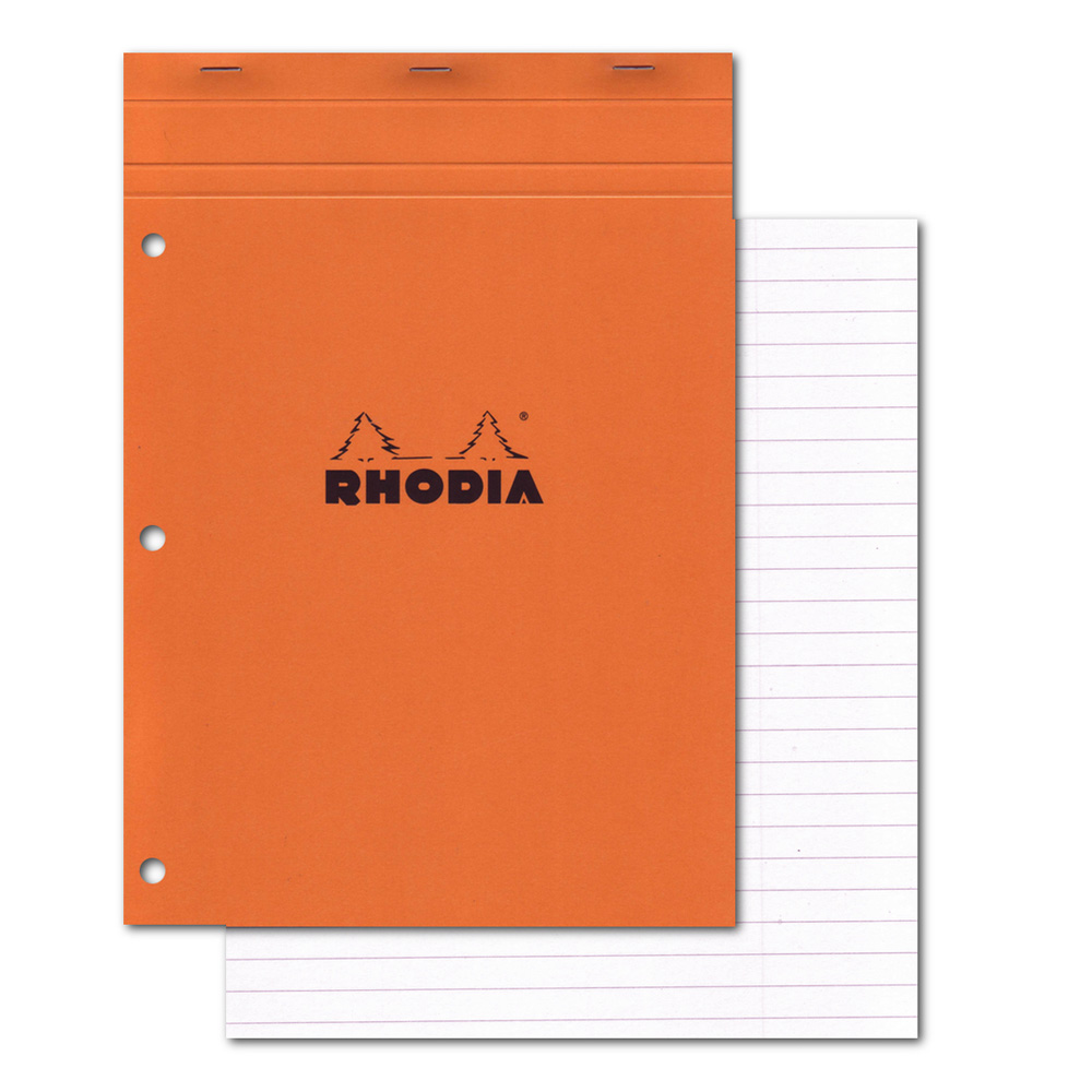 Rhodia Classic Orange Pad 8.25X11.75 Lined Wa