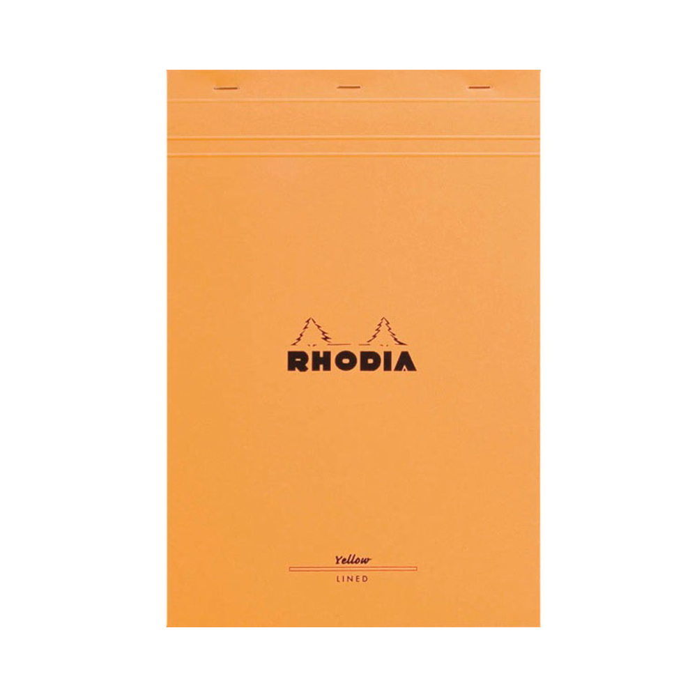 Rhodia Classic Staple Bk 8.25X12.5 Orng Lined