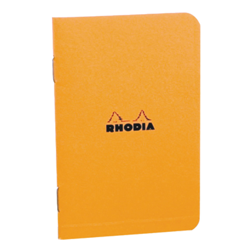 Rhodia Staplebound Notebook 6X8.25 Orange