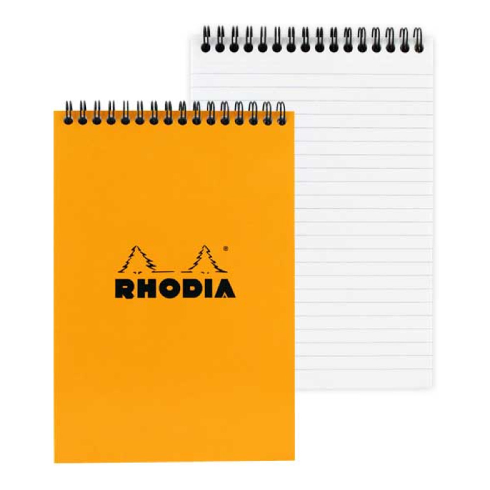 Rhodia Wirebound Pad 6X8.25 Orange Lined