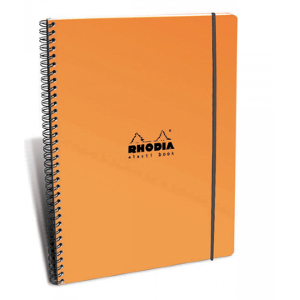 Rhodia Elasti Book Orange 9X11.75