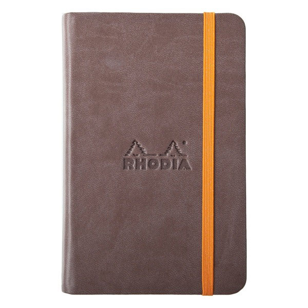 Rhodiarama A6 Plain Notebook Chocolate