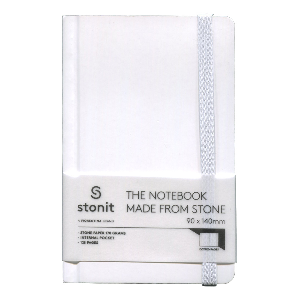 Stonit Hard Cover Dot Notebook White 3.5x5.5