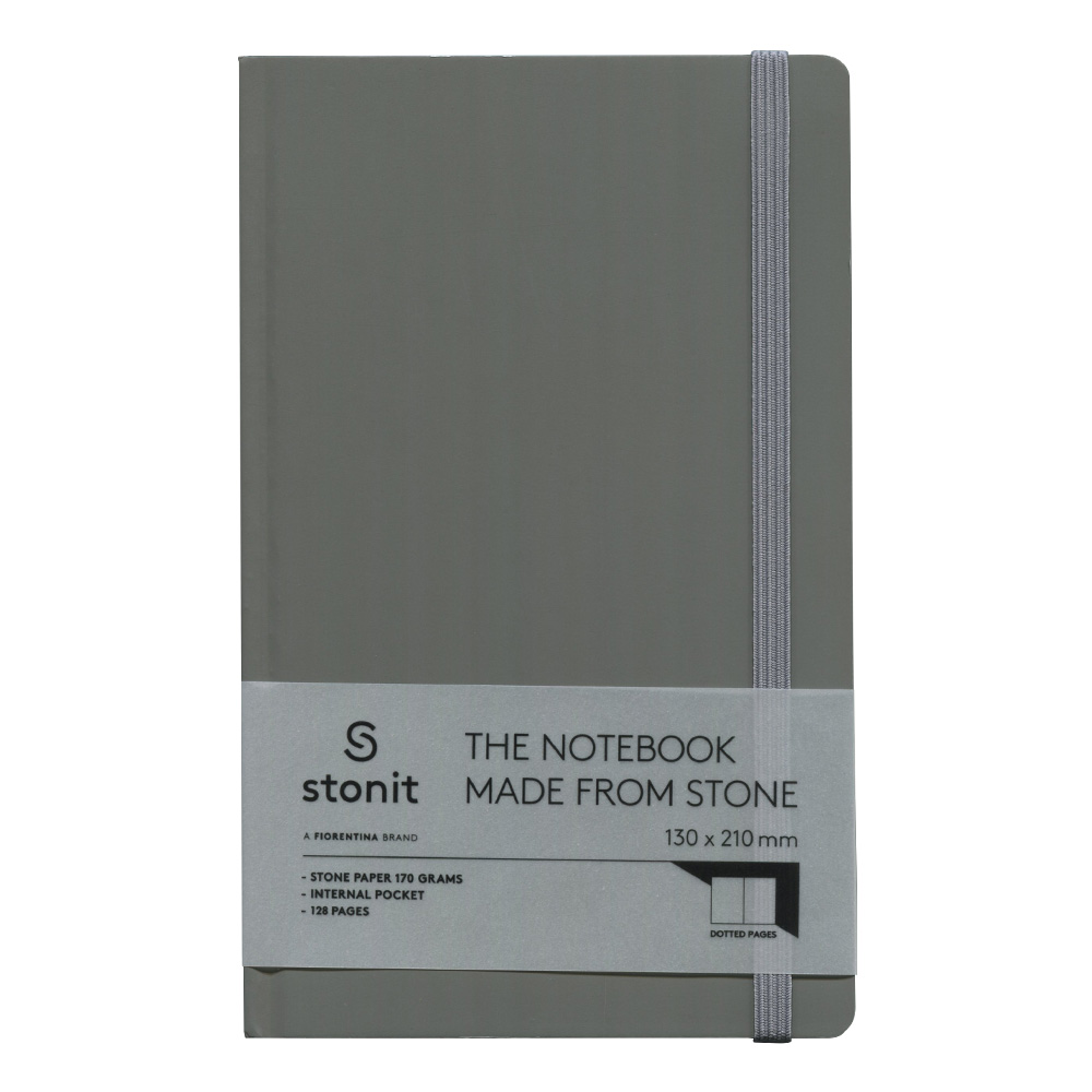 Stonit Hard Cover Dot Notebook Grey 5x8