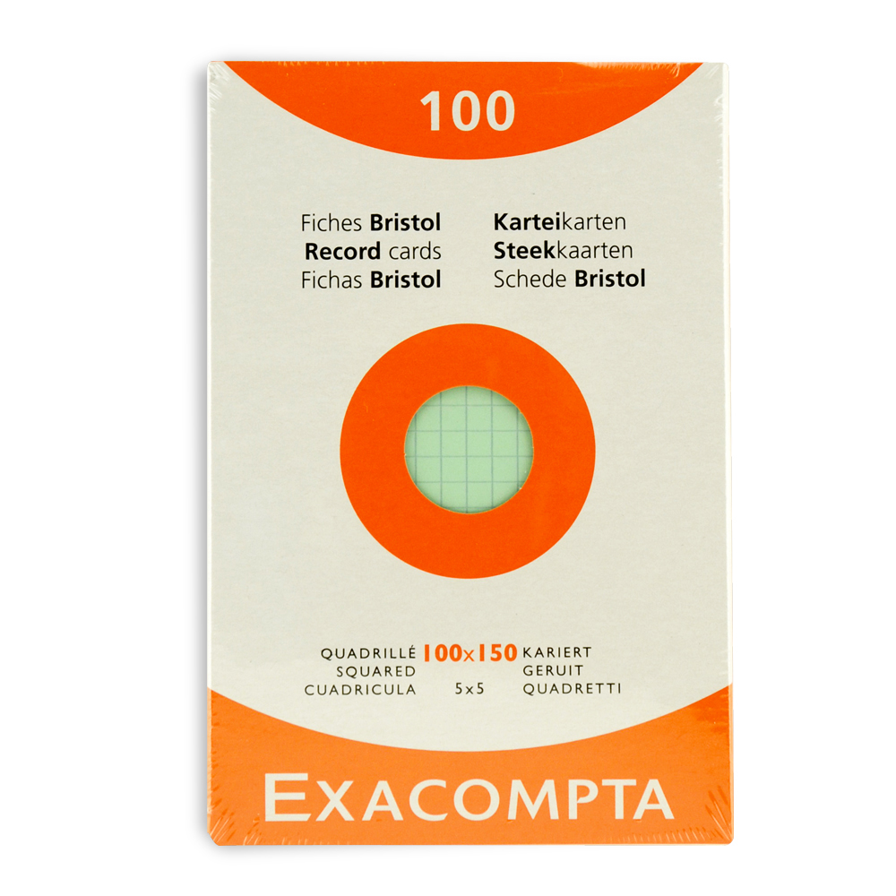 Exacompta Index Cards 4X6 Inch 100Pk