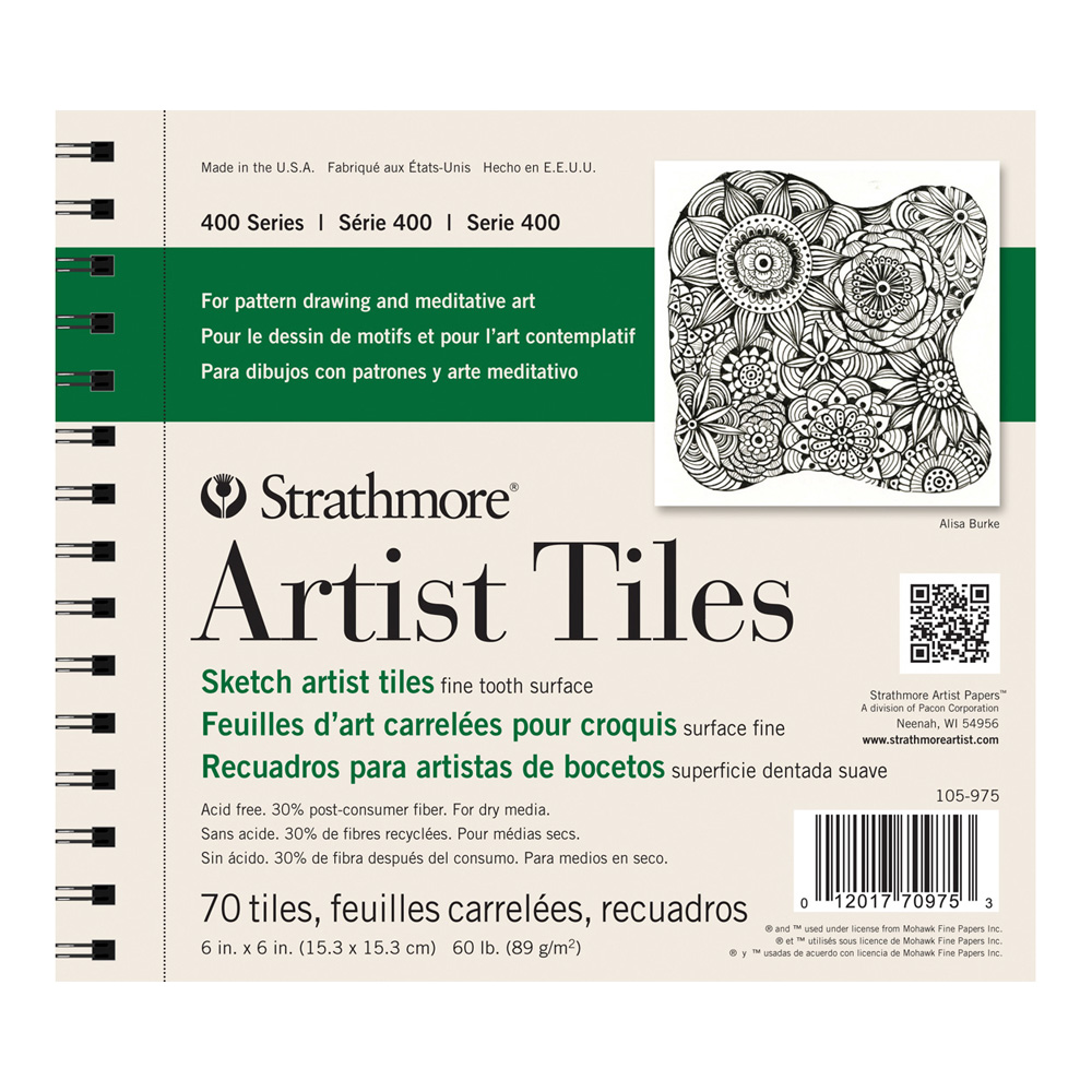 Strathmore Artist Tiles Sketchbook Recycled