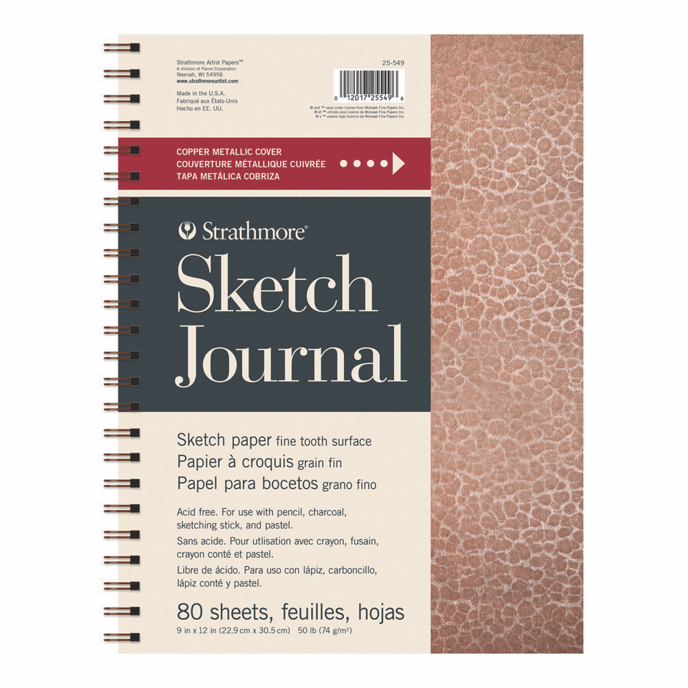 Strathmore Art Journal Hammered Copper 9x12
