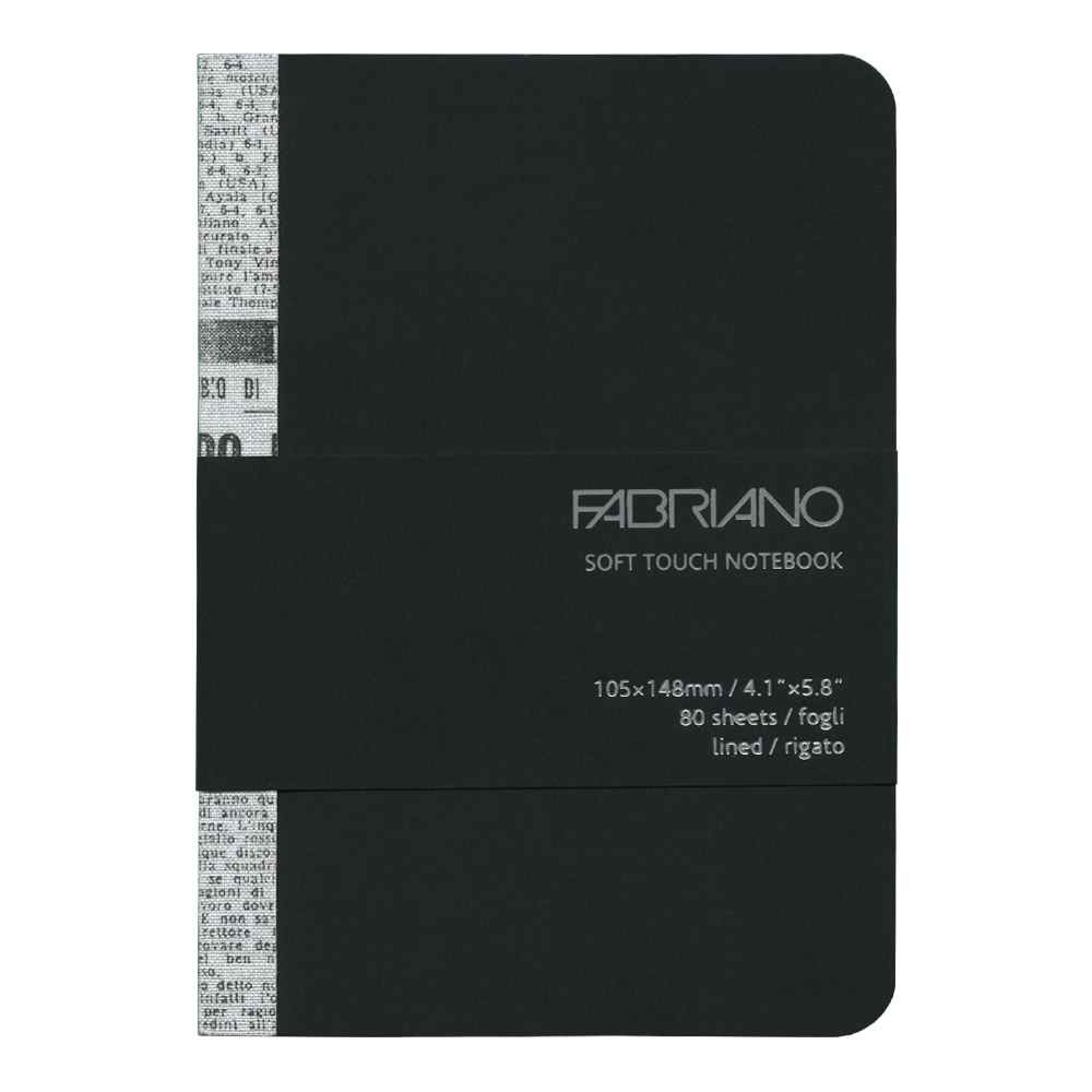 Fabriano Soft Touch Notebook A6 Black