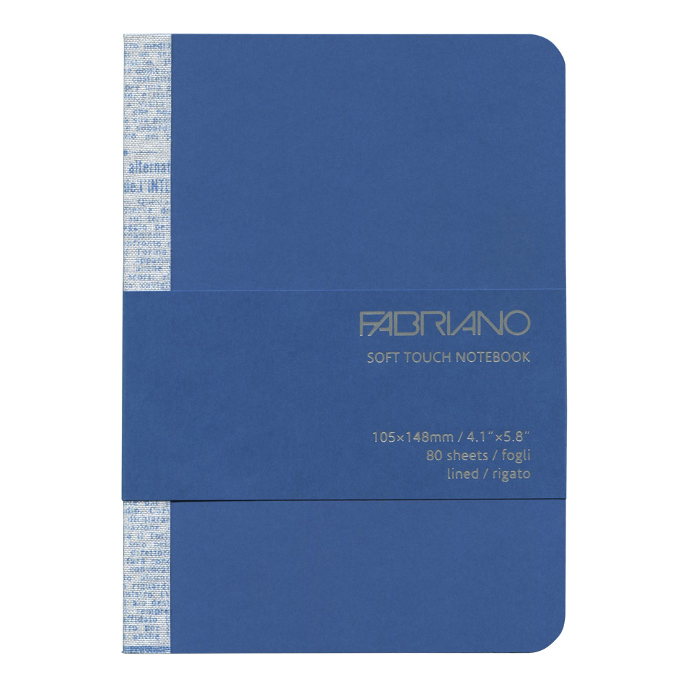 Fabriano Soft Touch Notebook A6 Azure Blue