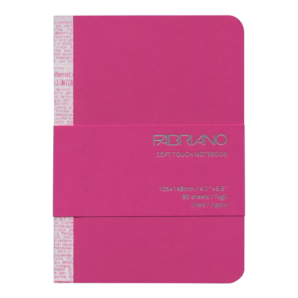 Fabriano Soft Touch Notebook A6 Fuchsia