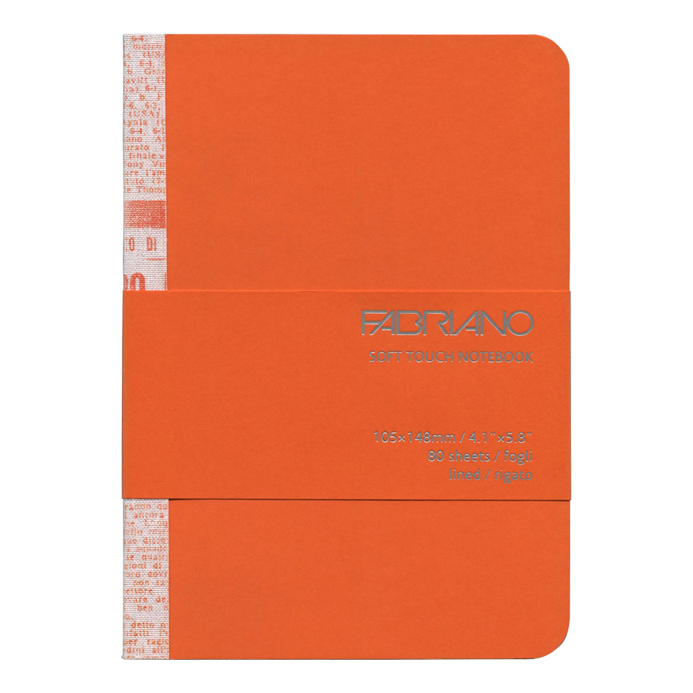 Fabriano Soft Touch Notebook A6 Orange