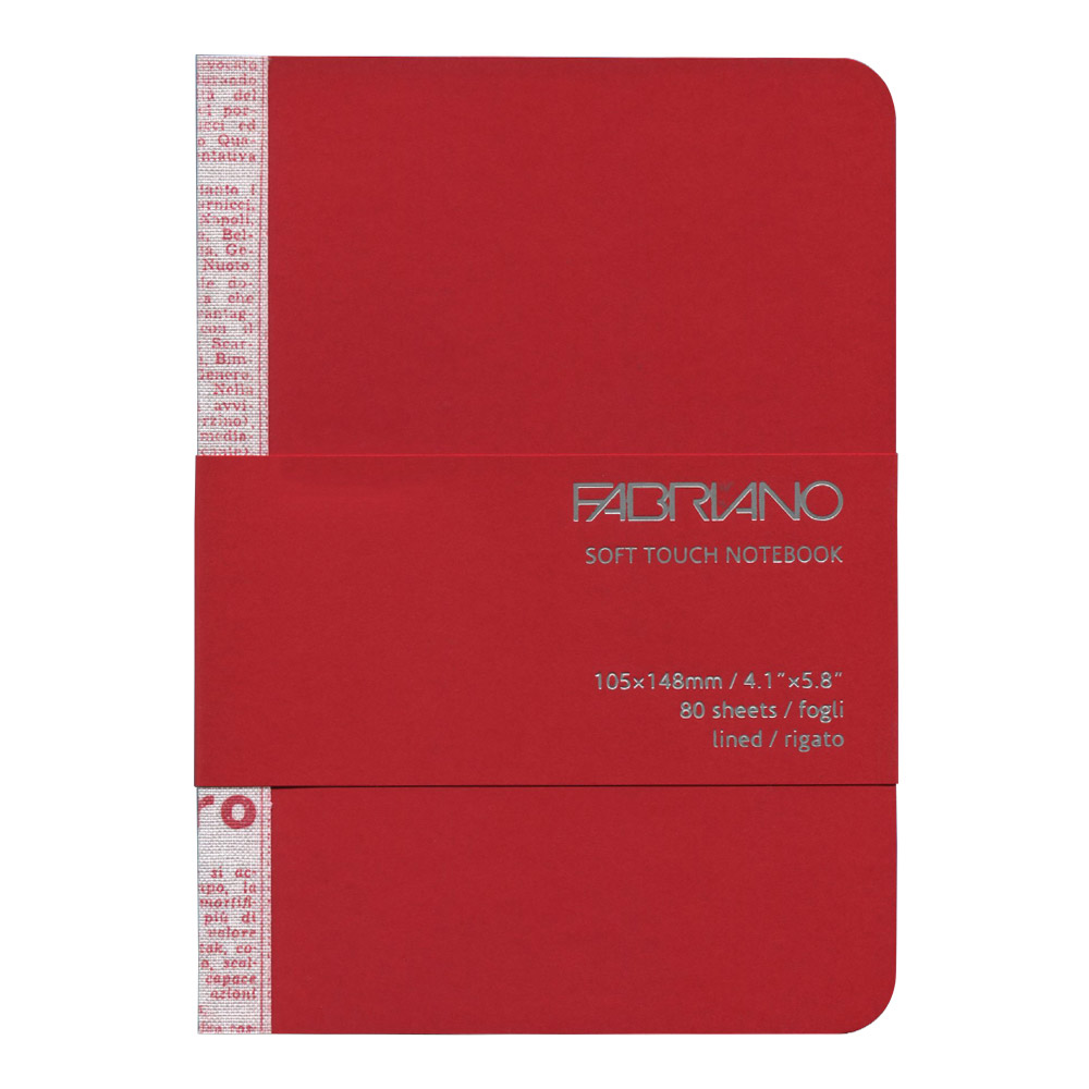 Fabriano Soft Touch Notebook A6 Red