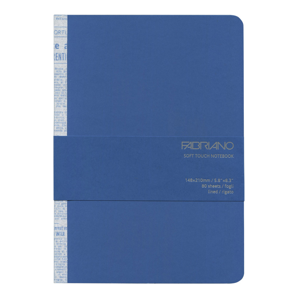 Fabriano Soft Touch Notebook A5 Azure Blue